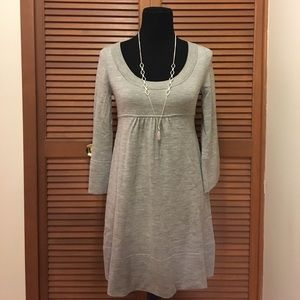 Diane Von Furstenberg Laetitia gray sweater dress